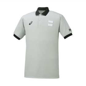 [asics]アシックス メンズ バスケットボールウェア 衿付きレフリーシャツ (XB8002)(12) シルバーグレー[取寄商品]