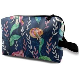 人魚姫様 化粧ポーチ トイレタリーバッグ トラベルポーチ 洗面用具入れ フルメイクセットバッグ 大容量 化粧品収納 出張 海外 旅行グッズ 育児グッズ レディース インナーバッグ