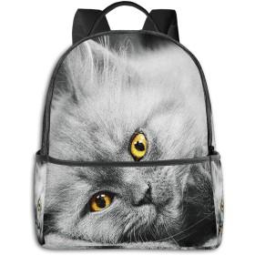 リュック リュックサック PCバック ビジネスリュック 大容量 ラップトップ バックパック 男女兼用 アウトドア旅行防水 素敵なかわいいロシアンブルー子猫