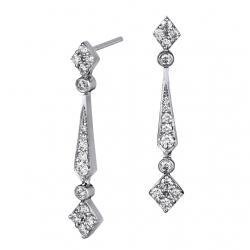 【BDD-Co.】14K白金 0.589克拉 鑽石水滴耳環