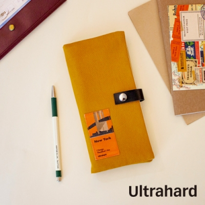 Ultrahard City Travel長版護照套-New York(黃)