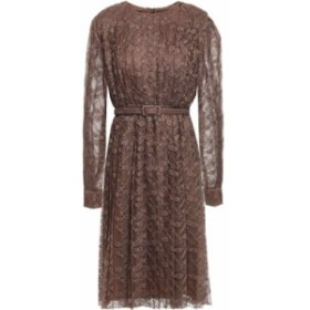 ミカエル アガール MIKAEL AGHAL レディース ワンピース ワンピース・ドレス belted pleated lace dress Brown