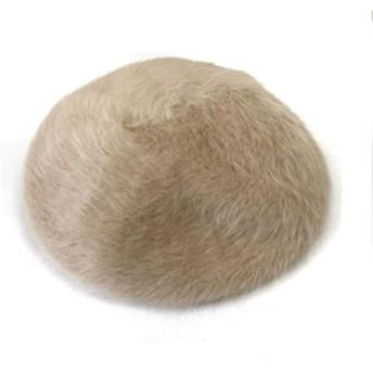 アンゴラ ベレー帽 ベレー レディース 秋冬 ブラック ターコイズ ベージュ 帽子 秋色 (ベージュ, ワンサイズ)