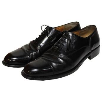【1月30日値下】Salvatore Ferragamo ストレートチップシューズ レザーシューズ 革靴 ブラック サイズ:10 (青山店)