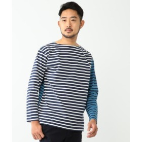 (BEAMS OUTLET/ビームス アウトレット)BEAMS/コンビネーション ボートネックカットソー/メンズ BLUE