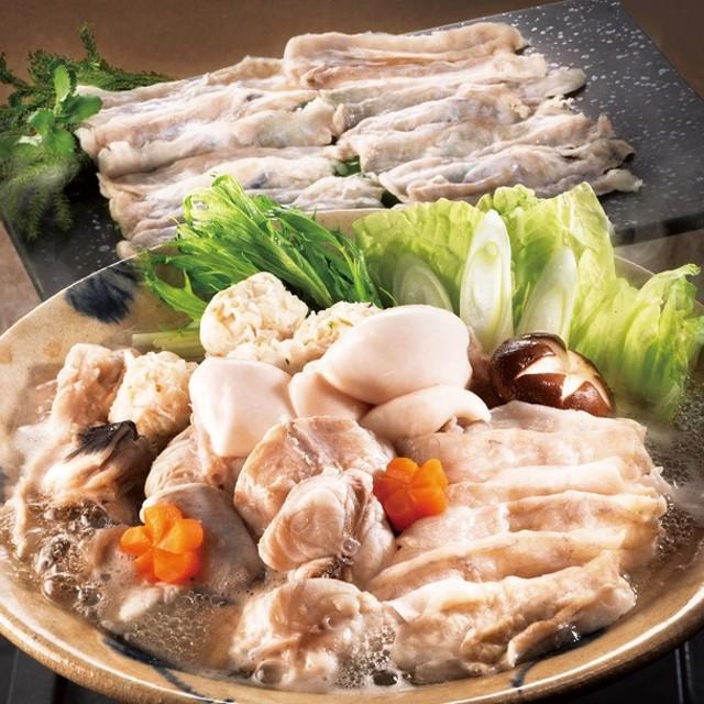 お歳暮 割烹旅館 寿美礼 とらふくすきみ(身皮)・ふくちり鍋セット