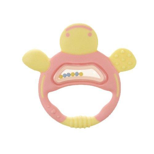 日本 Richell 利其爾 - 固齒器-手指形狀-附保管盒-粉紅色