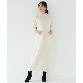 Loungedress(ラウンジドレス) レディース ホールニットパーカーワンピース オフホワイト