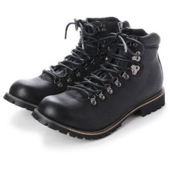 ジーノ Zeeno メンズブーツ マウンテンブーツ ショートブーツ ワークブーツ 靴 メンズシューズ 替え紐付き (ブラック)