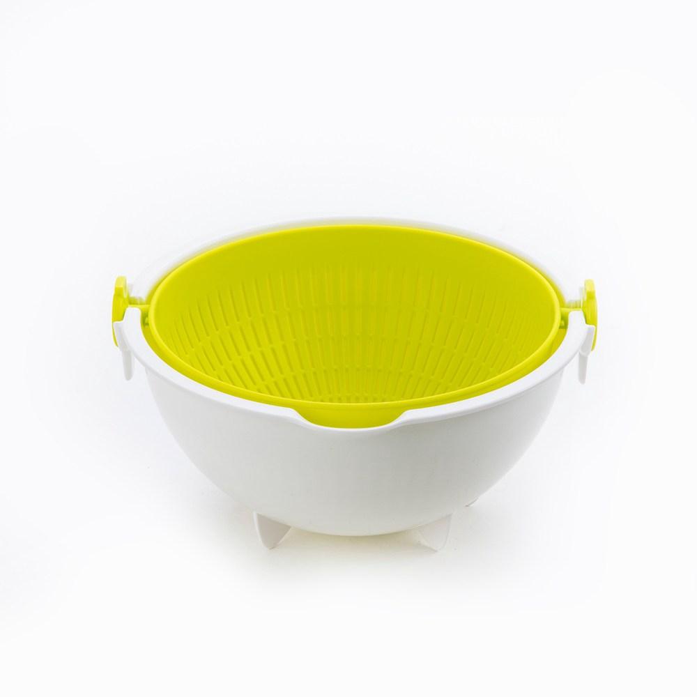 日本製蔬果旋轉濾水盆26cm