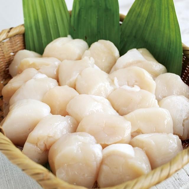 北海道オホーツク 天然冷凍ホタテ貝柱(割れ・欠け) 1kg