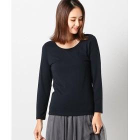 (MEW'S REFINED CLOTHES/ミューズ リファインド クローズ)ヒートウォームチェーンロングTシャツ/レディース ネイビー