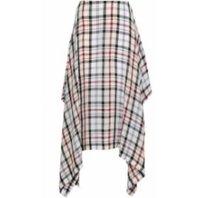 プリングル オブ スコットランド PRINGLE OF SCOTLAND レディース ひざ丈スカート スカート checked woven midi skirt Off-white
