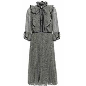 ミカエル アガール MIKAEL AGHAL レディース ワンピース ワンピース・ドレス pleated leopard-print chiffon dress Black