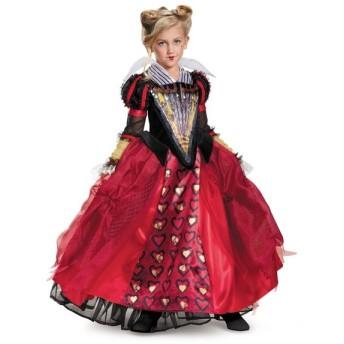 ディズニー コスプレ 子供 コスチューム 人気 アリスインワンダーランド 2 赤の女王 DX 衣装 ハロウィン 時間の旅