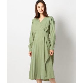 【56%OFF】 ミューズ リファインド クローズ カシュクールピーチワンピース レディース グリーン M 【MEW'S REFINED CLOTHES】 【セール開催中】