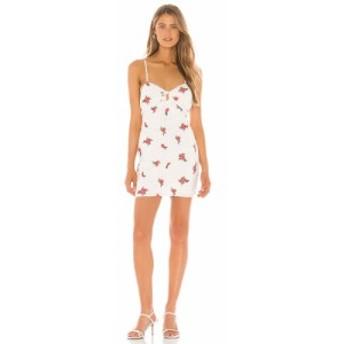 ラヴァーズフレンズ Lovers + Friends レディース ワンピース ミニ丈 ワンピース・ドレス Wilder Mini Dress White
