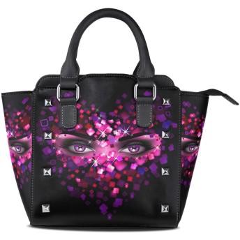 パープルレディアイクロスボディバッグレザーハンドバッグサッチェル財布メイクアップトートバッグ女性用女の子