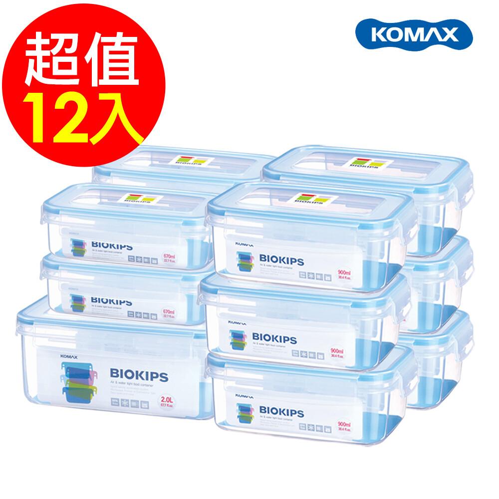 [新品現貨]韓國komaxbiokips 耐熱方形保鮮盒12件組