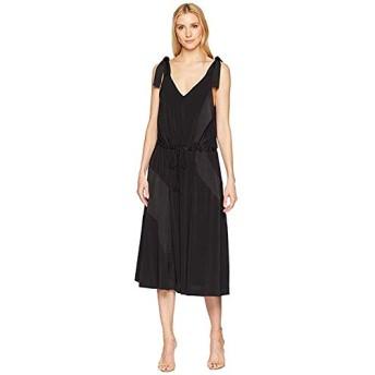 [Kenneth Cole New York(ケネスコール ニューヨーク)] ドレス・ワンピース V-Neck Shoulder Tie Tank Dress Black (XS) [並行輸入品]