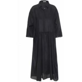 ジル サンダー JIL SANDER レディース ワンピース ミドル丈 ワンピース・ドレス gathered wool midi dress Black