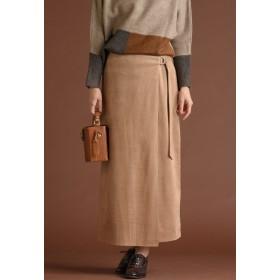 MAYSON GREY 【雑誌掲載】【socolla】スウェードラップスカート その他 スカート,キャメル