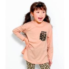 アナップキッズ&ガール(ANAP KIDS&GIRL)/レオパード柄ポケットチュニック