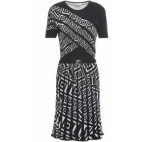 ヴェルサーチ VERSACE COLLECTION レディース ワンピース ワンピース・ドレス cotton-blend jacquard dress Black