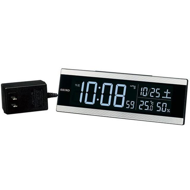 セイコー SEIKO 目覚まし時計 置き時計 DL306S デジタル 電波時計 表示色が選べる シリーズC3 温度計 湿度計