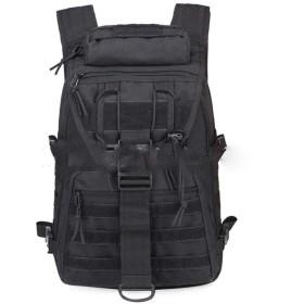 陸軍ファンのショルダーバッグ戦術的な暴行迷彩男性の屋外登山トレッキングパッケージ,黒