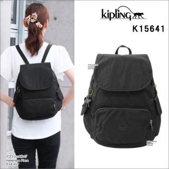 キプリング Kipling リュック K15641 CITY PACK S BP かぶせS ブラックリーフ  デイバッグ パック ag-845200