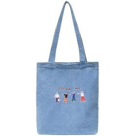 シンプルなカジュアルトートバッグの女性のデザイナーハンドバッグコットン生地大容量ショッピングショルダーバッグ、A