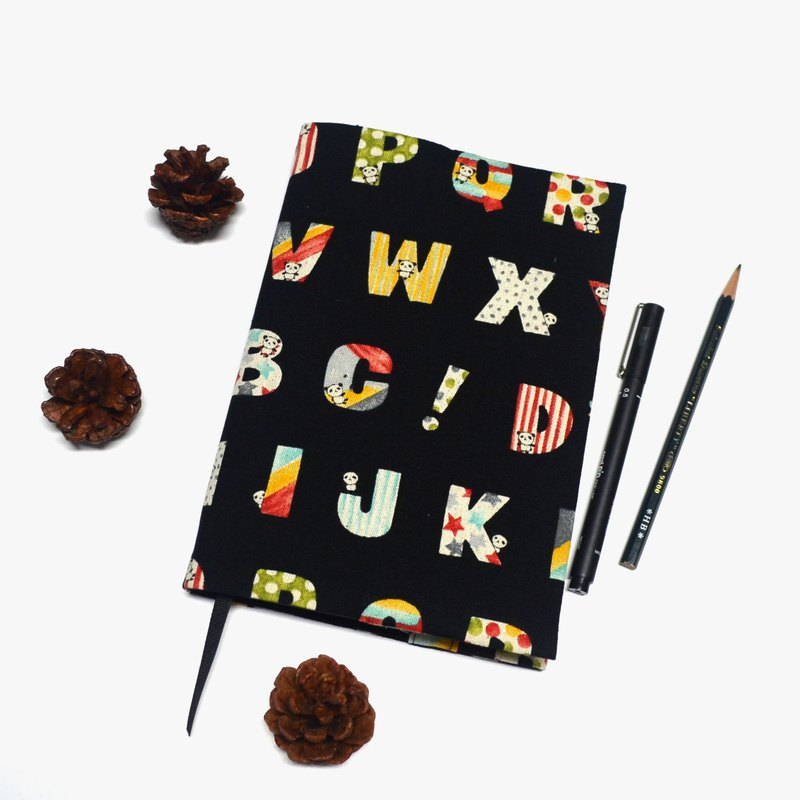熊貓學英文布書衣/布書套 可調式