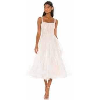 ブロンクス アンド バンコ Bronx and Banco レディース ワンピース ミドル丈 ワンピース・ドレス Mademoiselle Bridal Midi Dress White