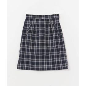 [サニーレーベル] スカート タック台形スカート レディース NVY×WHT FREE