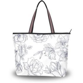 トートバッグ ハンドバッグ 手提げ a4 大容量 レディース エレガント 花柄 肩掛けバッグ 学生 おしゃれ 通勤 通学 かわいい