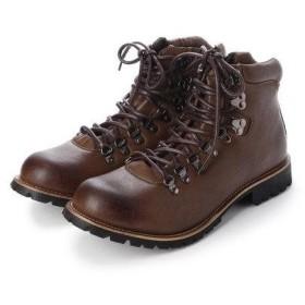 ジーノ Zeeno メンズブーツ マウンテンブーツ ショートブーツ ワークブーツ 靴 メンズシューズ 替え紐付き (ブラウン)