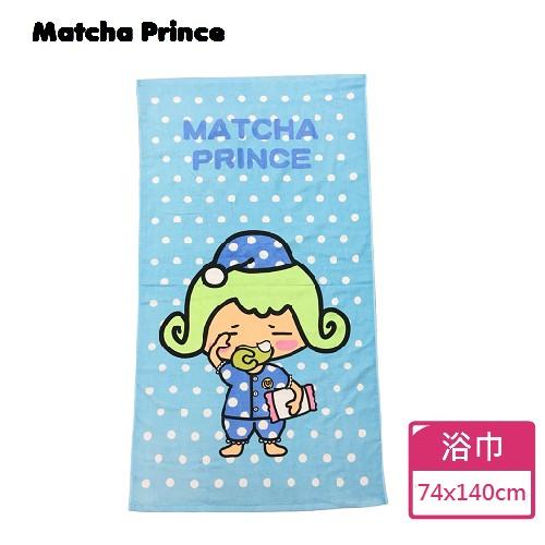 【Matcha Prince】茶茶小王子浴巾-點點藍 74x140cm 100%棉 台灣製造