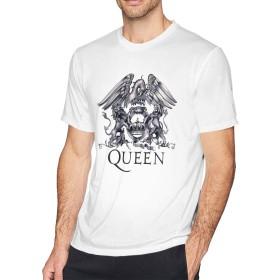 Tシャツ 男性 Queen クイーン 半袖 カットソー カジュアル アルバイト 丸えり 夏服 快適 かっこいい サイズ有り
