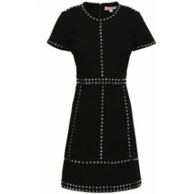 マイケル コース MICHAEL MICHAEL KORS レディース ワンピース ミニ丈 ワンピース・ドレス studded stretch-crepe mini dress Black