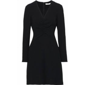 ティビ TIBI レディース ワンピース ミニ丈 ワンピース・ドレス ruched stretch-crepe mini dress Black