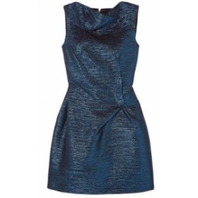 ローラン ムレ ROLAND MOURET レディース ワンピース ミニ丈 ワンピース・ドレス zonda metallic woven mini dress Navy