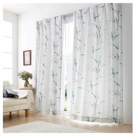 【送料無料!】上質で柔らかな起毛生地の水彩タッチ花柄カーテン ドレープカーテン(遮光あり・なし) Curtains, 窗, 窗簾