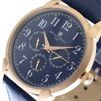 サルバトーレマーラ SALVATORE MARRA 腕時計 メンズ SM18107-PGBL ブルー ネイビー ブルー