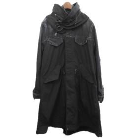 【11月7日値下】sacai 2019AW デニム切替モッズコート ブラック サイズ:3 (渋谷店)