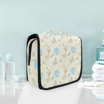 キリンカバモンキーぶら下げ折りたたみトイレタリー化粧品化粧バッグ旅行キットオーガナイザー収納ウォッシュバッグケース用女性女の子浴室
