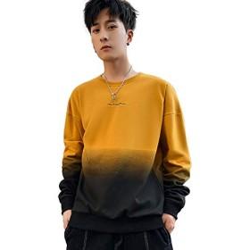 メンズ Tシャツ 長袖 グラデーション あったか 厚手 お兄系 インナー おしゃれ 大きいサイズ 個性 ファッション トップス オーバーサイズ ビッグシルエット