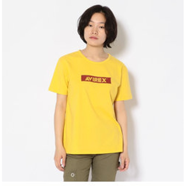 【AVIREX:トップス】#ジェルプリントロゴティーシャツ/ Gel Print LOGO T-SHIRT