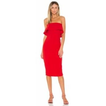 エヌビーディー NBD レディース ワンピース ミドル丈 ワンピース・ドレス Astro Midi Dress Red