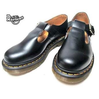 ドクターマーチン Dr.Martens CORE ポリー Tバーストラップシューズ ブラック レディース 靴